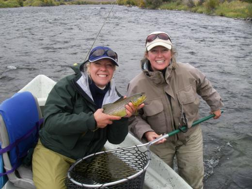 Alice from Riverside Anglers during a great day fishing the Madison.